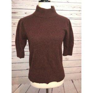 Ann Taylor Sweater large 100% Cashmere Turtleneck